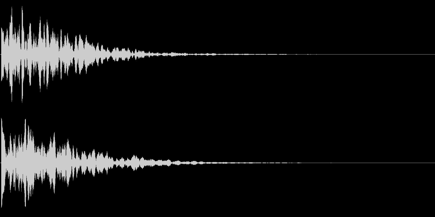 ゲームスタート、決定、ボタン音-136の未再生の波形