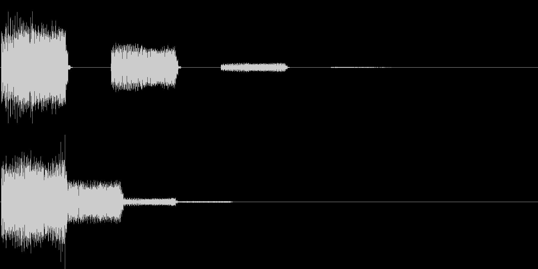 ビヨヨビヨヨ…(決定音・デジタル)の未再生の波形