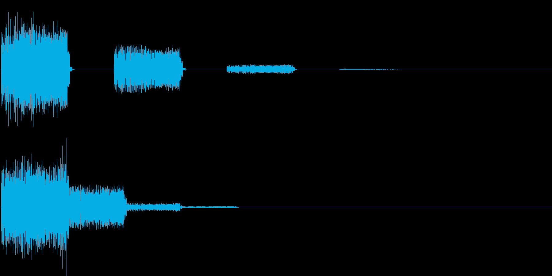 ビヨヨビヨヨ…(決定音・デジタル)の再生済みの波形