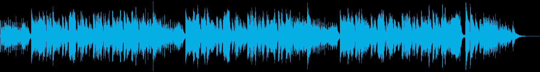 琴と尺八の和風な滝廉太郎の「花」の再生済みの波形