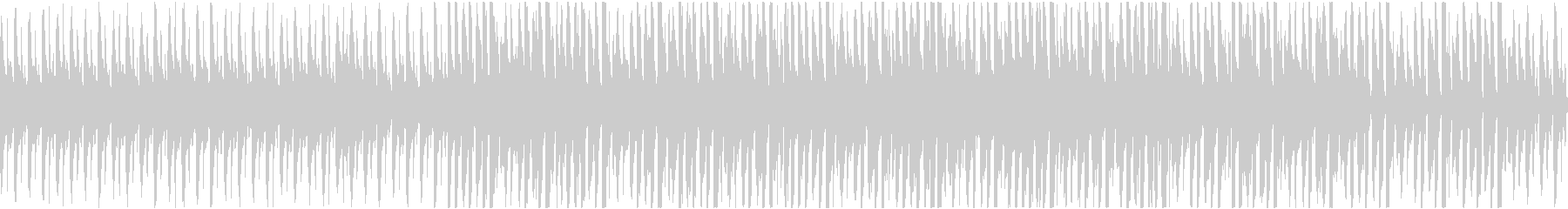 淡々とクールな4つ打ちBGMの未再生の波形