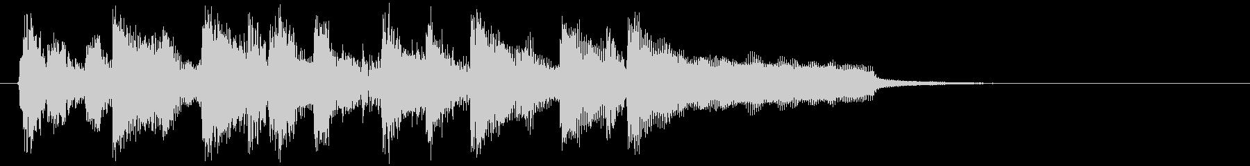 軽快でノリノリな明るいファンク系ジングルの未再生の波形