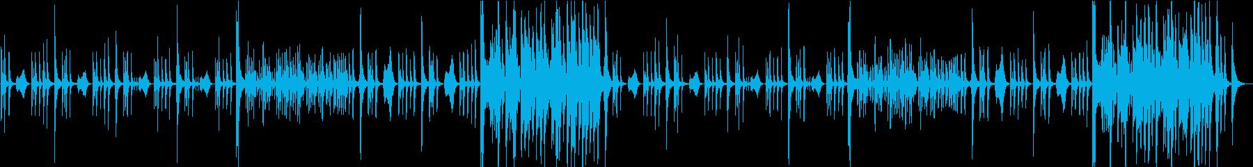 【CM、動画】コミカルなストリングスの再生済みの波形