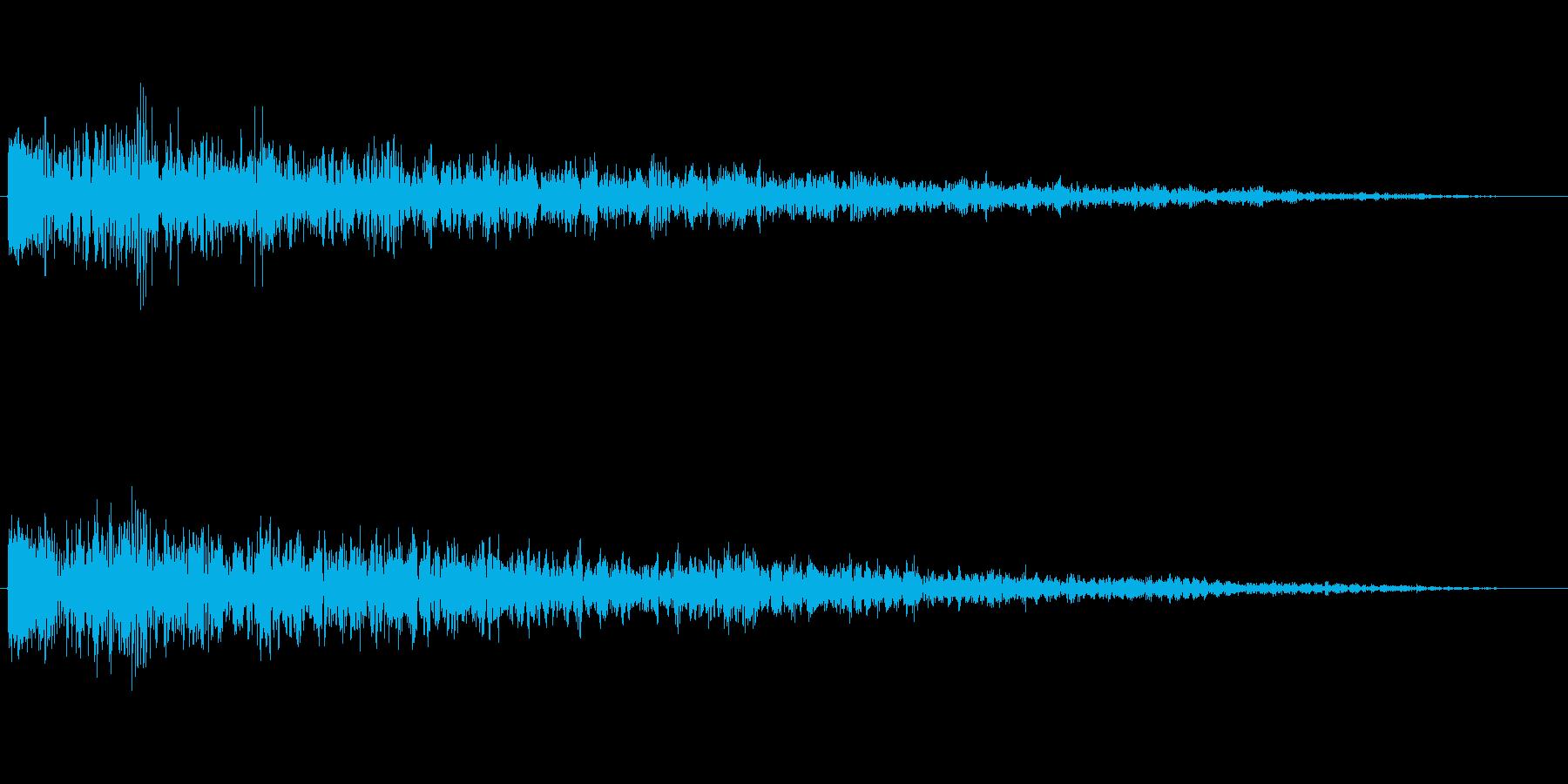 「ドーン」企業ロゴ向けSE。 シックな…の再生済みの波形