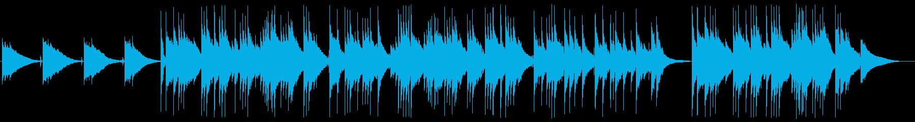 一日の終わりを感じる落ち着くアコギソロの再生済みの波形