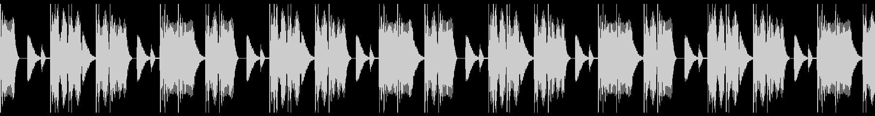 エネルギッシュなエレキベースビートBGMの未再生の波形
