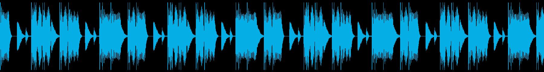 エネルギッシュなエレキベースビートBGMの再生済みの波形