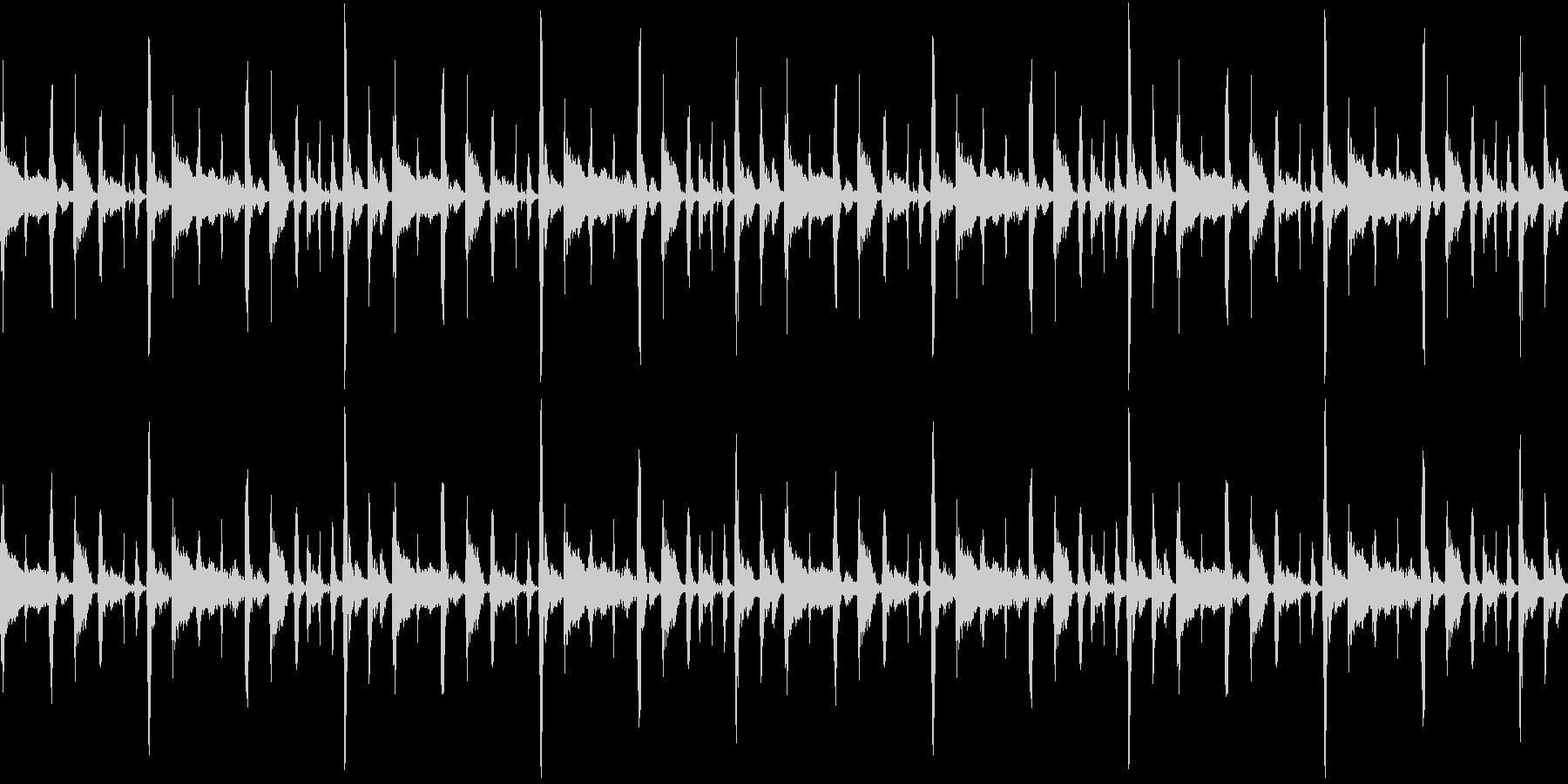 シンキングタイム風ジャズの未再生の波形