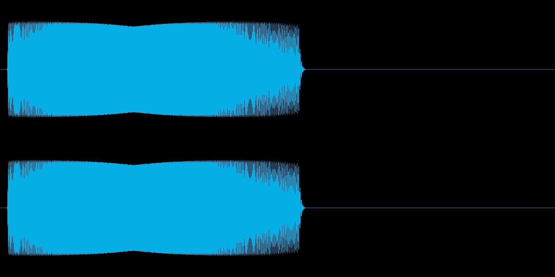 ジャンプ音 「ぴゅいーん」の再生済みの波形