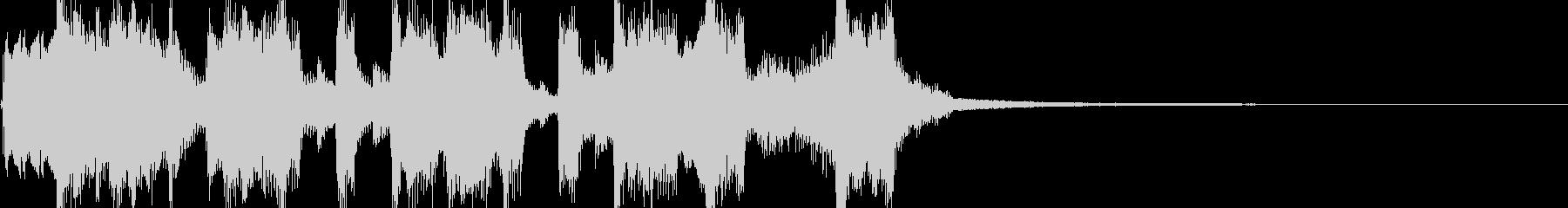 ポンコツ可笑しなトランペットジングルの未再生の波形