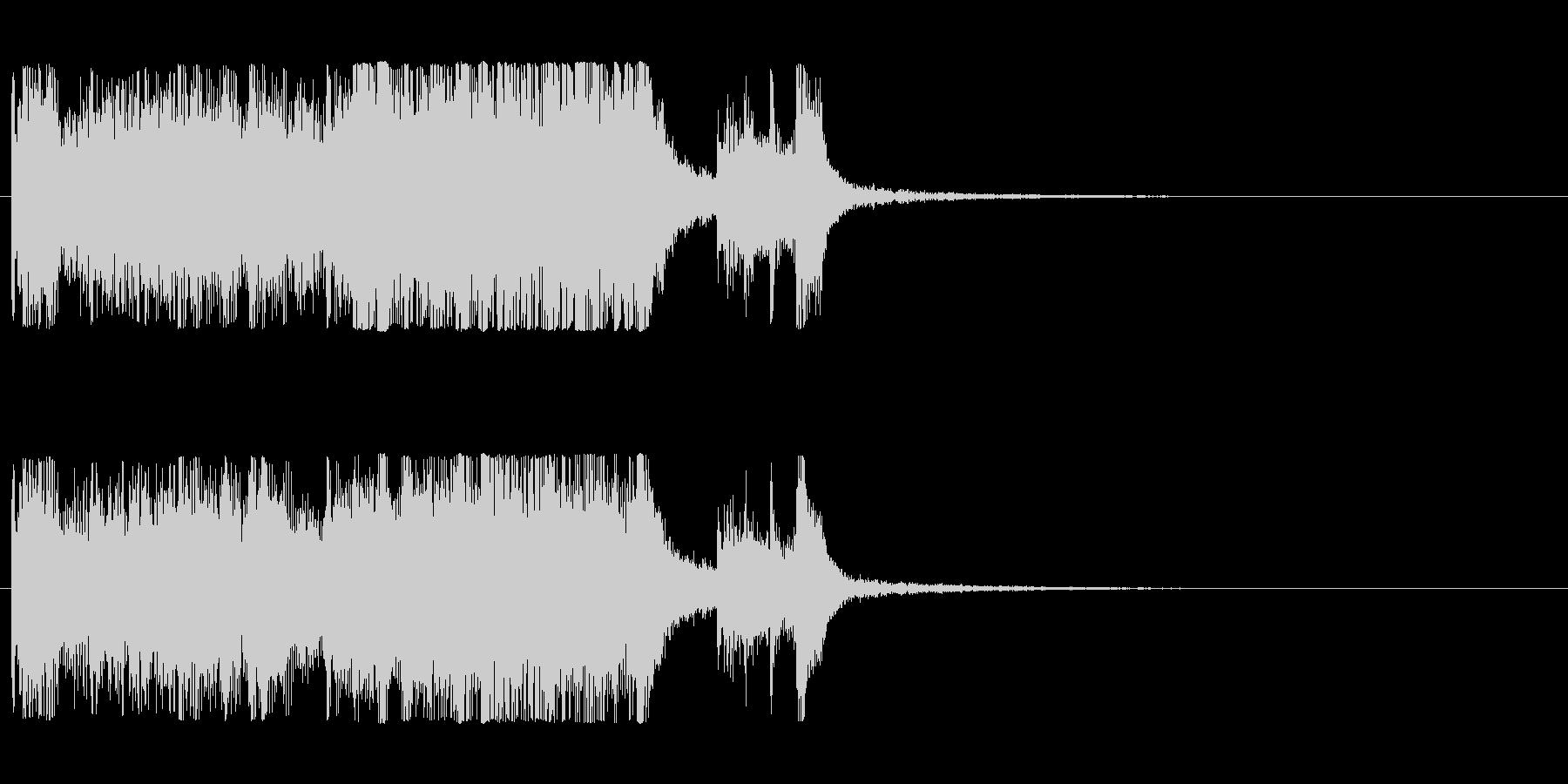 発表シリーズファンファーレ成績発表ピアノの未再生の波形