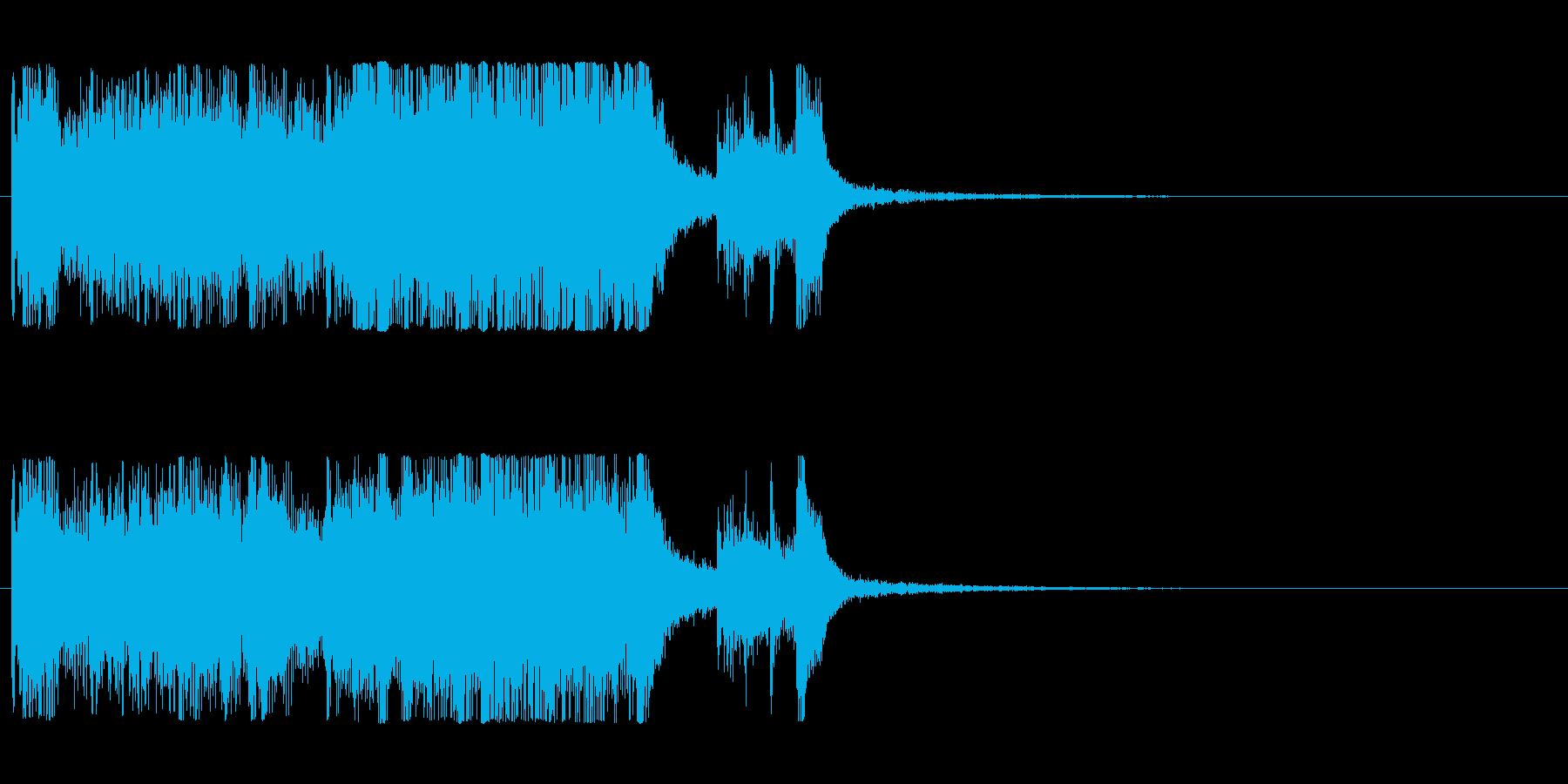 発表シリーズファンファーレ成績発表ピアノの再生済みの波形