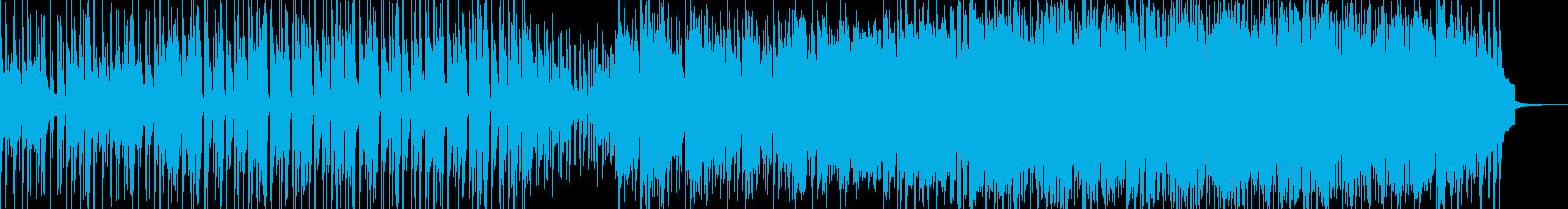 爽やかなポップのフュージョン系の再生済みの波形