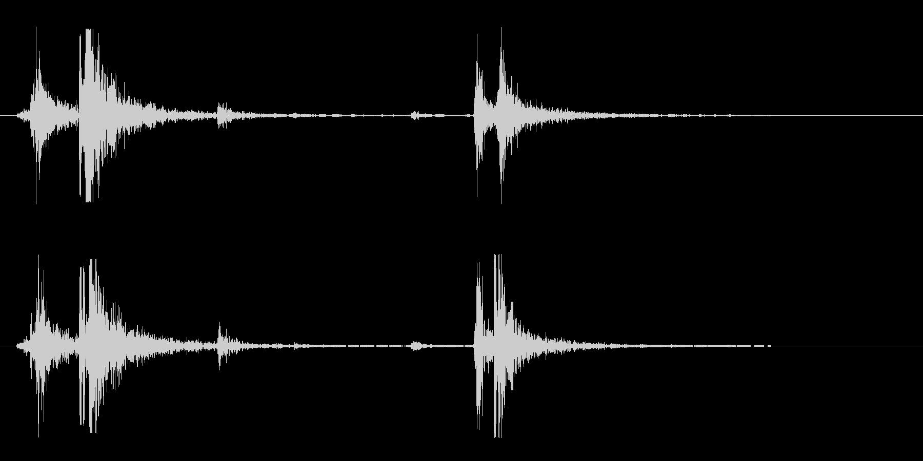 シャッター音(道具)の未再生の波形