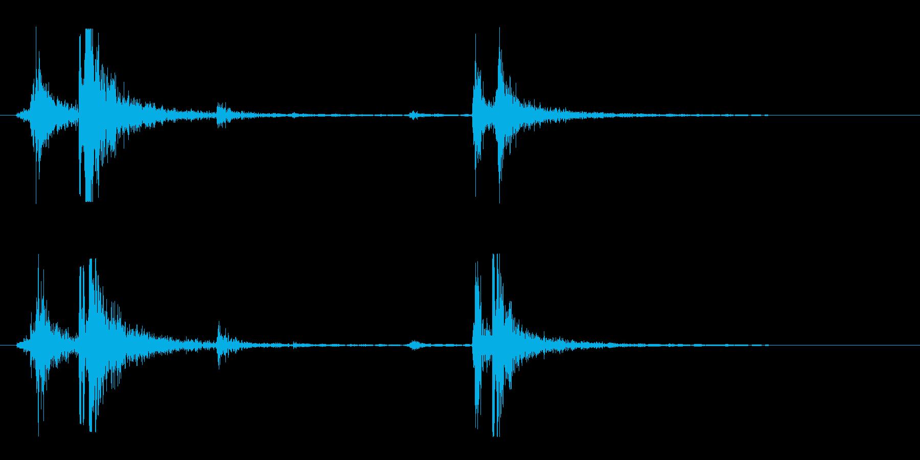 シャッター音(道具)の再生済みの波形