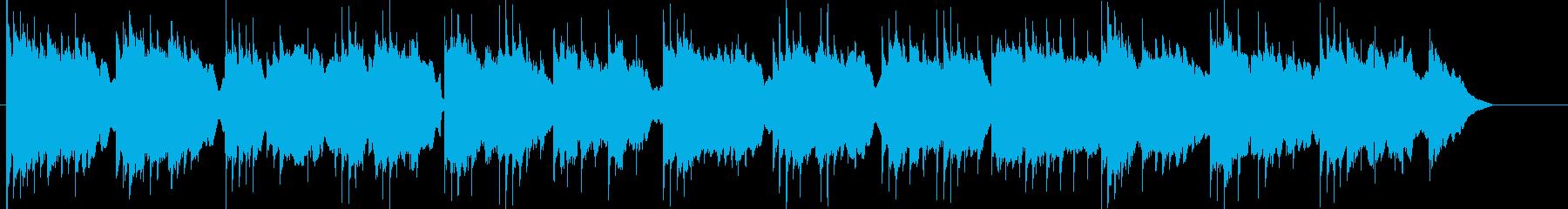 温かく可愛らしい雰囲気のBGMの再生済みの波形