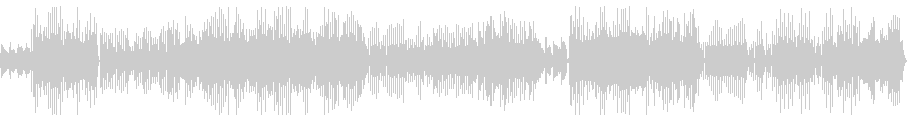 Melodic and gentle fashionable house's unreproduced waveform