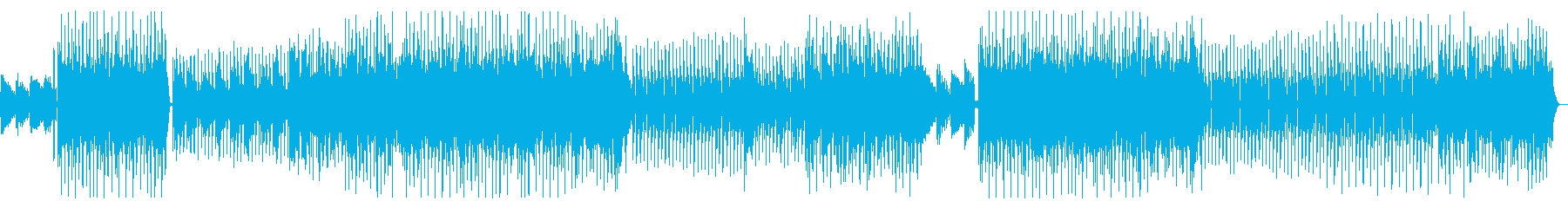 Melodic and gentle fashionable house's reproduced waveform