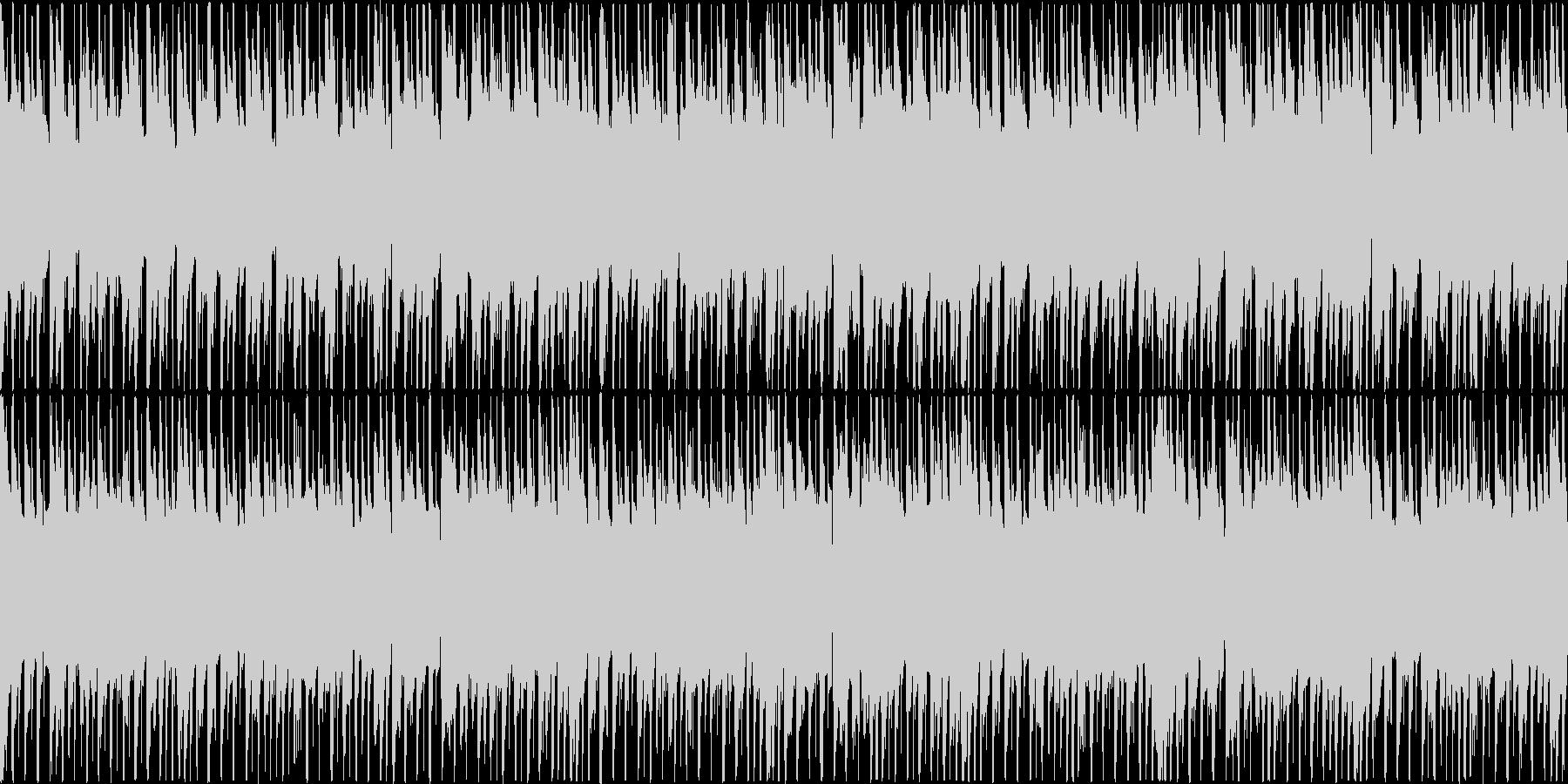 楽しくコミカルなBGMの未再生の波形