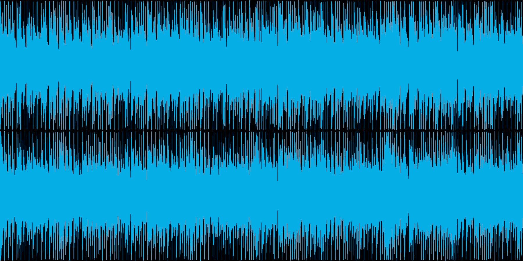 楽しくコミカルなBGMの再生済みの波形