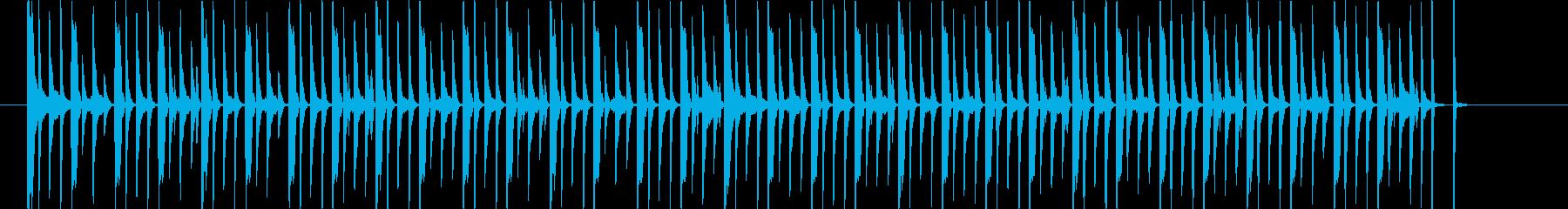 クイズ番組の考え中テクノの再生済みの波形