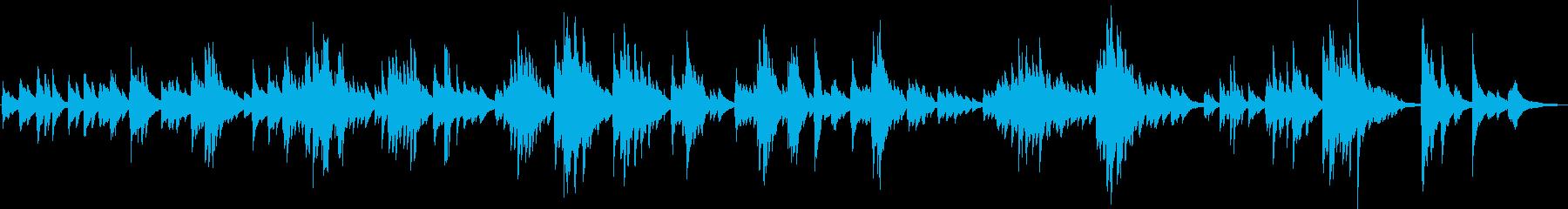 寄り添うような優しいピアノ曲の再生済みの波形