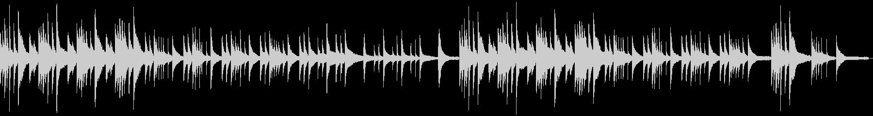 ゆったりとした静かで悲しげなソロピアノの未再生の波形