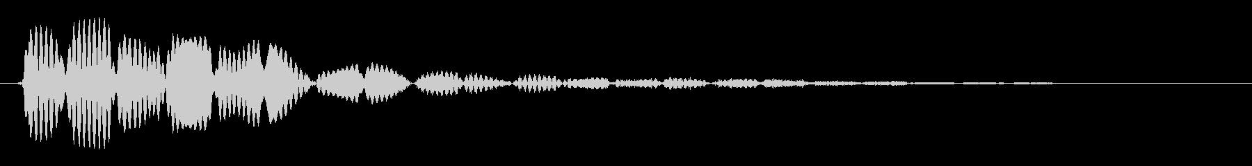 クリック音(シンプル)の未再生の波形