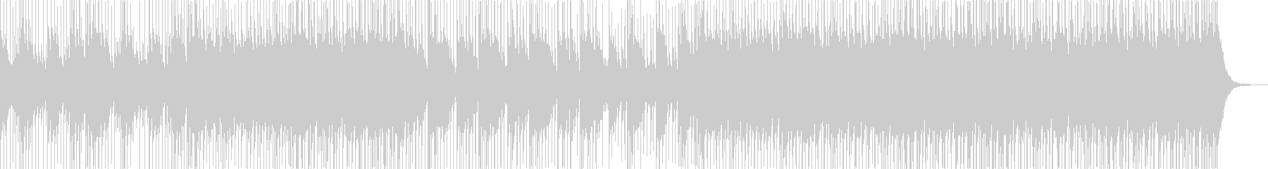 シンプルに和太鼓と三味線での演奏の未再生の波形