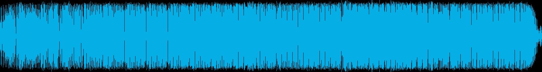 軽快なビートのダンスMUSICの再生済みの波形
