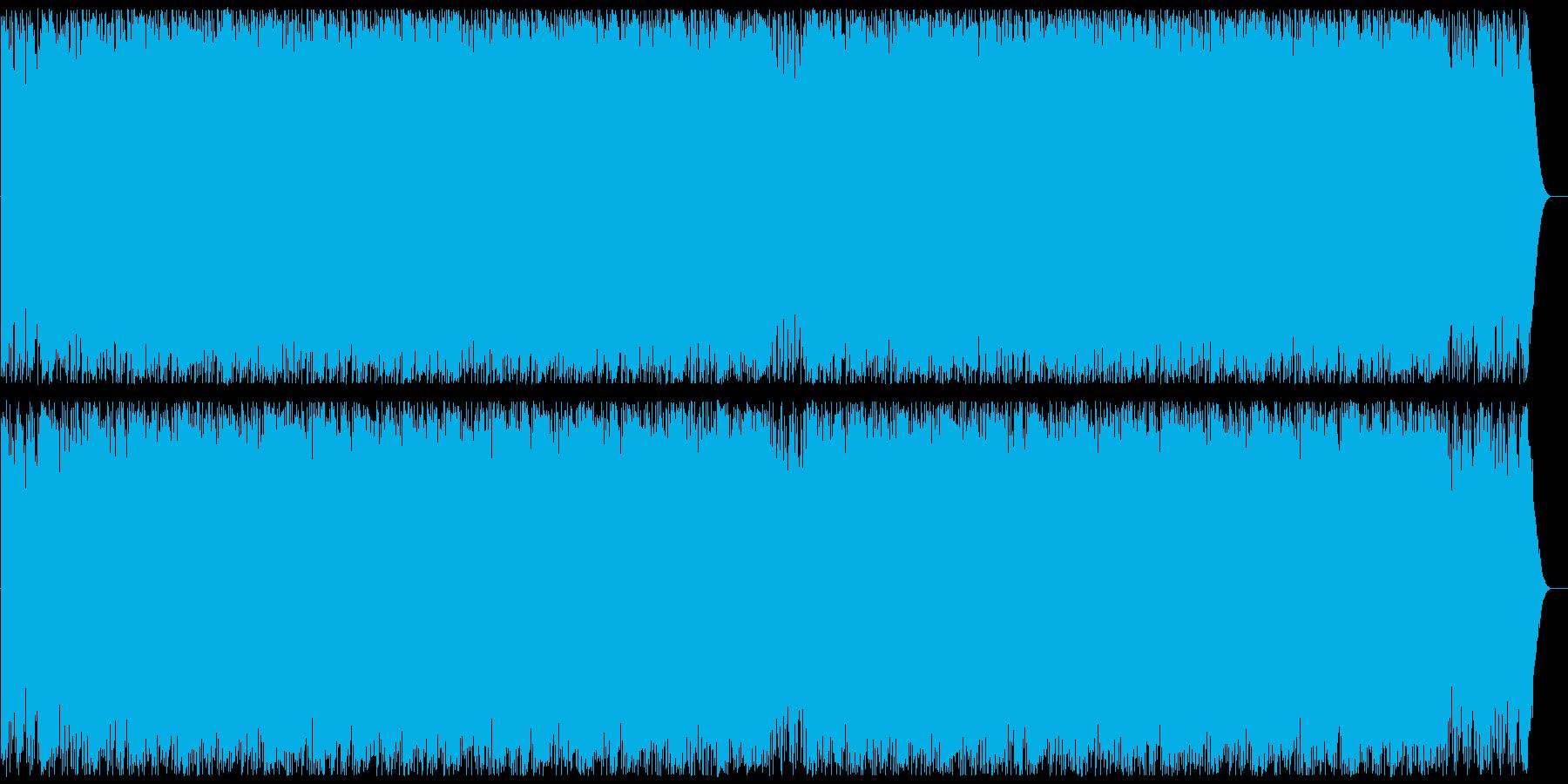 重低音の激しいエレクトロ・ロックの再生済みの波形
