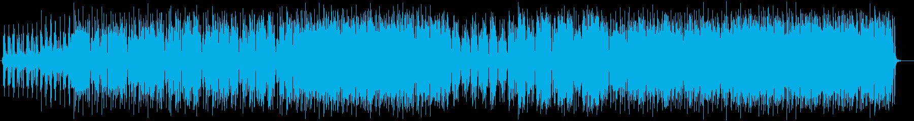 味のある笛のメロディーと渋い低音のリズムの再生済みの波形