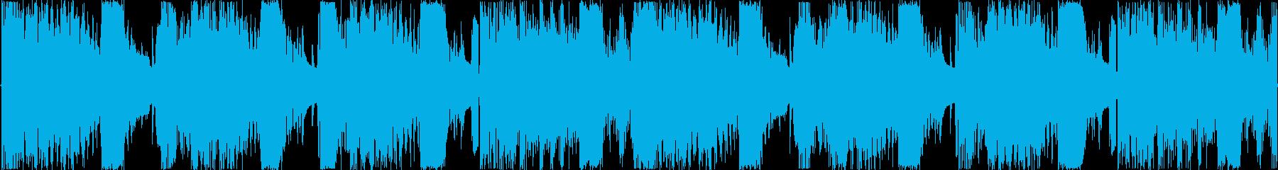 エスニックドラムとシンセサウンドは...の再生済みの波形