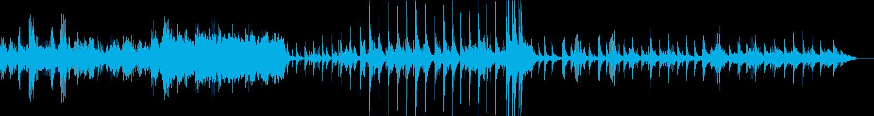 悲しい雰囲気のエレクトロニカの再生済みの波形