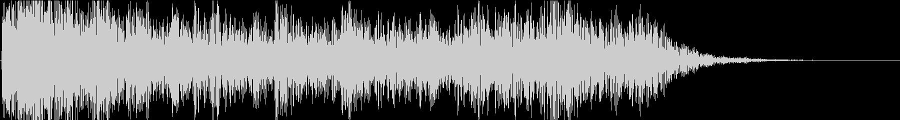 ドーン・ドカーン(雷が轟く音)の未再生の波形