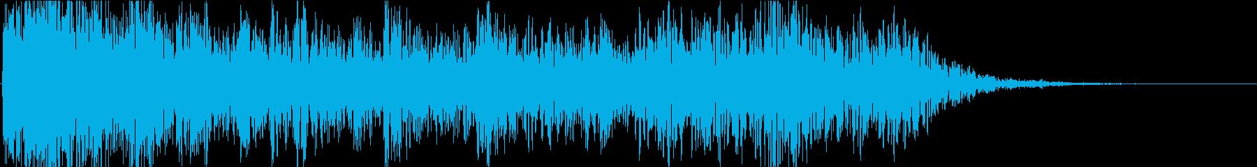 ドーン・ドカーン(雷が轟く音)の再生済みの波形