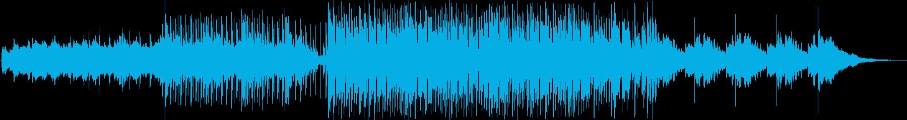 映像に合う神秘的なミニマルテクノの再生済みの波形