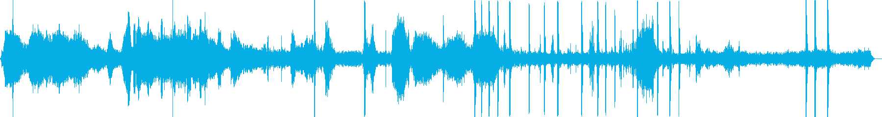 工場、工事現場の作業音Cの再生済みの波形