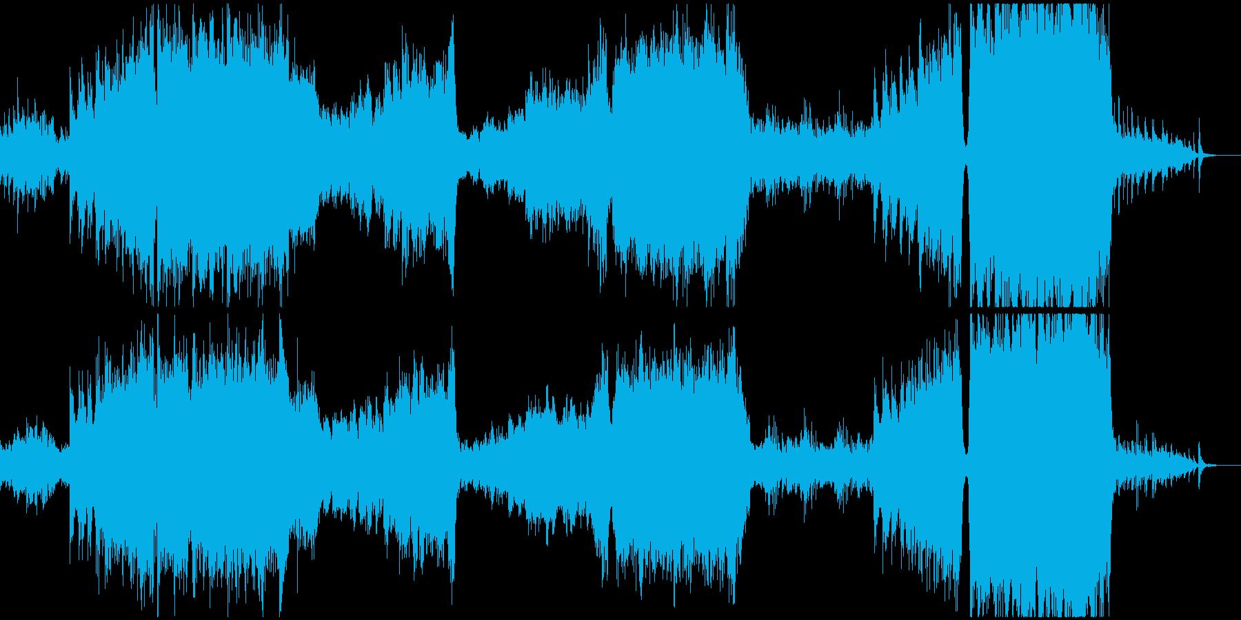 壮大でかっこいいオーケストラBGMの再生済みの波形
