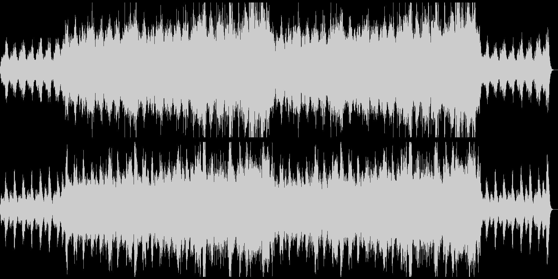 幻想的で悲しいファンタジーオーケストラの未再生の波形