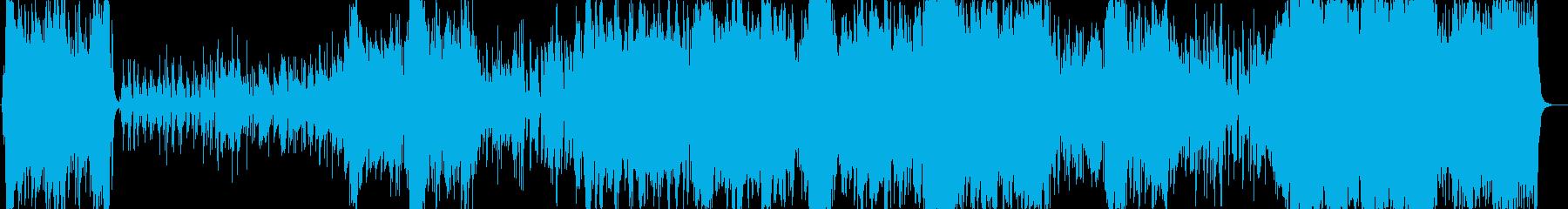 オーケストラ編成のタンゴの再生済みの波形