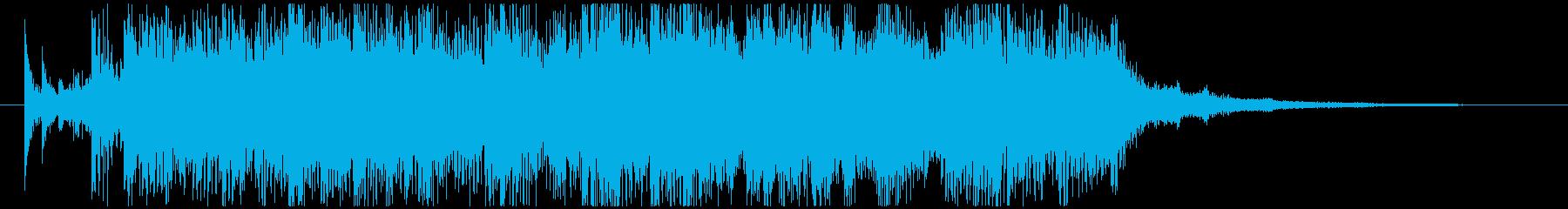 カッコいいエレキによるジングルの再生済みの波形