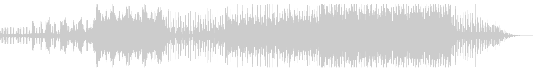 マリンバやピアノが絡み合う変拍子ミニマルの未再生の波形