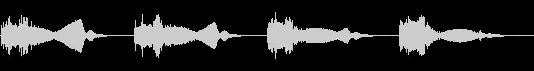 機械等が故障や警告時の音ですの未再生の波形