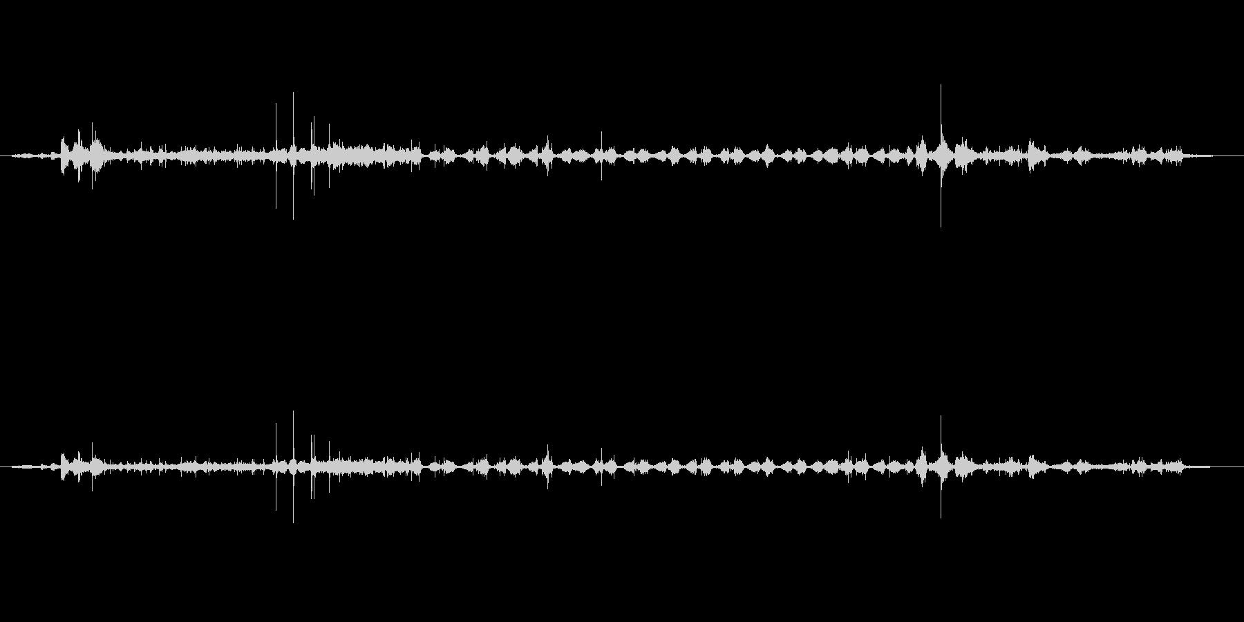 スポンジごしごし効果音の未再生の波形