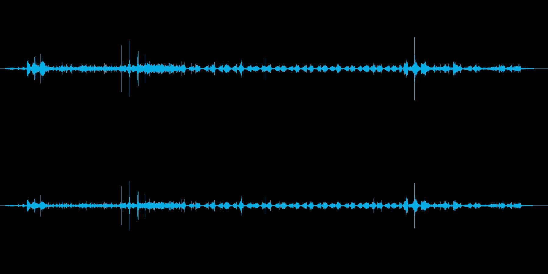 スポンジごしごし効果音の再生済みの波形