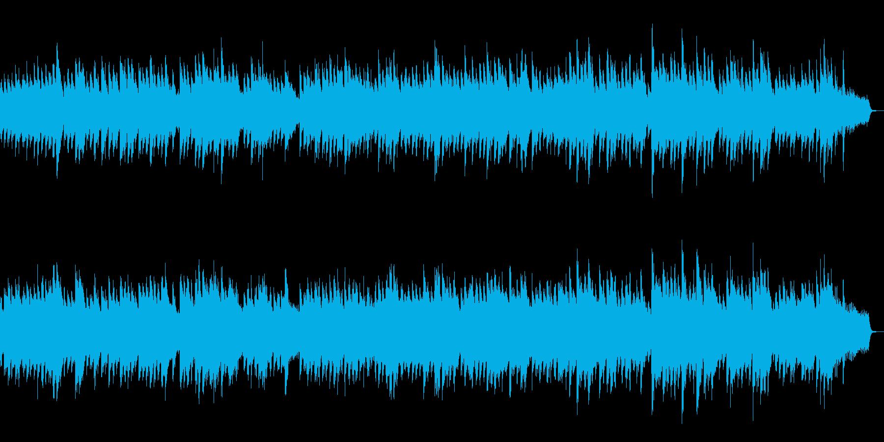 月夜、夜景に合うBGMの再生済みの波形