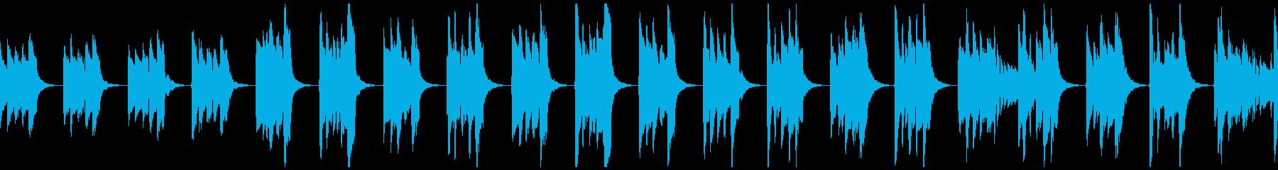 【ループ】中世風のギター:太古の森6の再生済みの波形