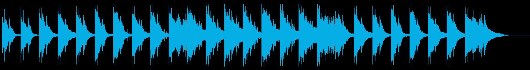 切ないピアノとヴァイオリンの再生済みの波形