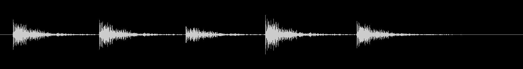 ウィンドウをノックする(5ノック)の未再生の波形